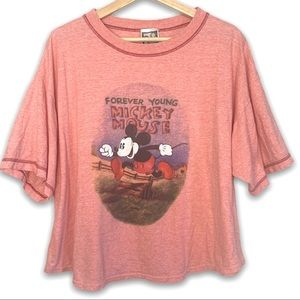 Mickey Unlimited Oversized Crop T-shirt